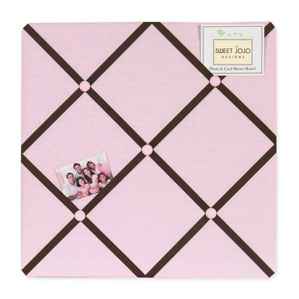 Sweet JoJo Designs Pink and Brown Hotel Memory Board