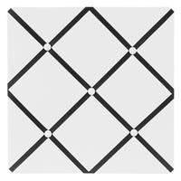 Sweet JoJo Designs Hotel White and Black Fabric Memory Board