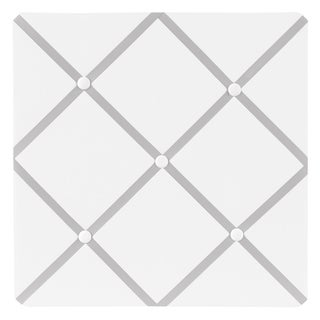 Sweet JoJo Designs Hotel White and Grey Fabric Memory Board