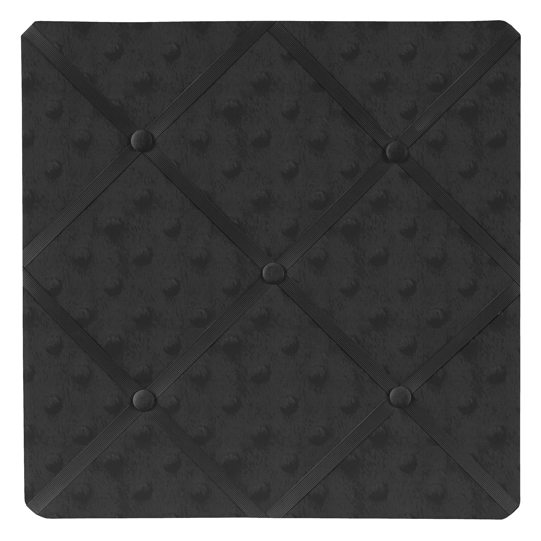 JoJo Designs Minky Solid Black Dot Fabric Memory Board