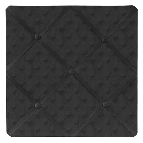 Sweet JoJo Designs Minky Solid Black Dot Fabric Memory Board