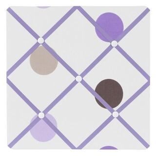 Sweet JoJo Designs Mod Dots Purple and Brown Fabric Memory Board