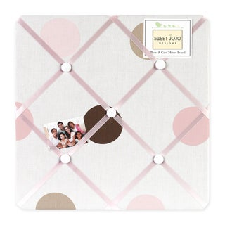 Sweet JoJo Designs Mod Dots Pink and Brown Fabric Memory Board