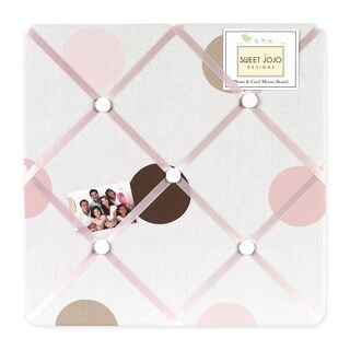 Sweet JoJo Designs Mod Dots Pink and Brown Fabric Memory Board