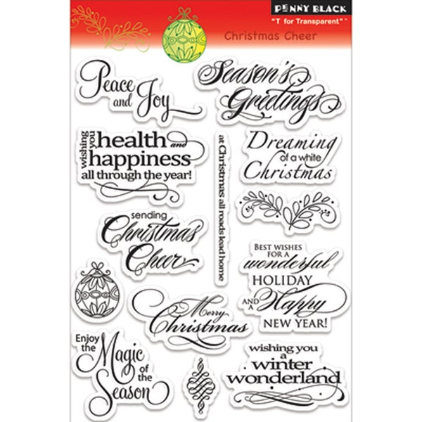 """Penny Black Clear Stamp 4""""X6""""-Christmas Cheer"""