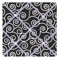 Sweet JoJo Designs Kaylee Purple and Black Fabric Memory Board