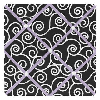 Sweet JoJo Designs Kaylee Purple and Black Fabric Memory Board
