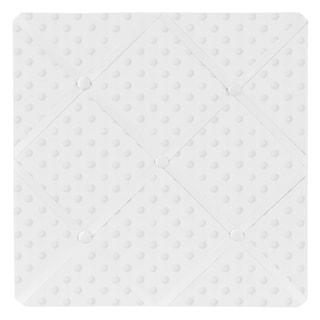 Sweet JoJo Designs Minky Solid White Dot Fabric Memory Board