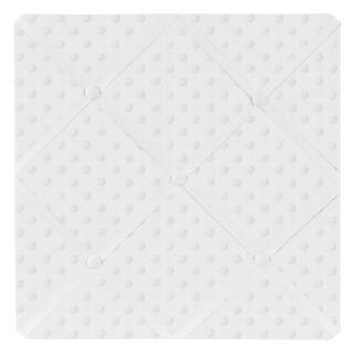 Sweet JoJo Designs Minky Solid White Dot Fabric Memory Board