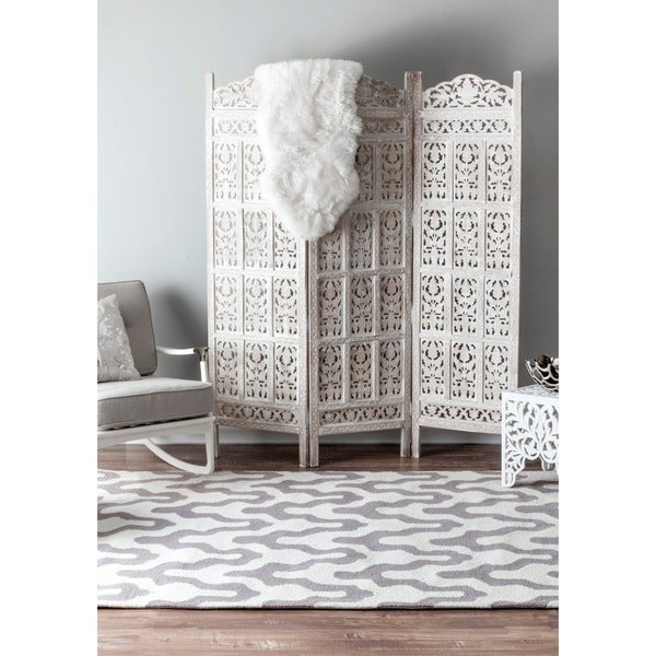 nuLOOM Handmade Modern Trellis Wool Rug (5' x 8') - 5' x 8'