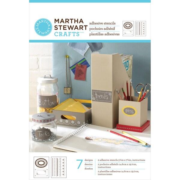 """Martha Stewart Adhesive Stencils 5-3/4""""X7-3/4"""" 2 Sheets/Pkg-Pretty Borders 7 Designs"""