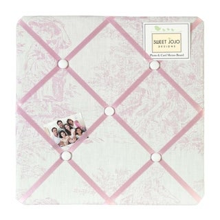 Sweet JoJo Designs Pink French Toile Bulletin Board