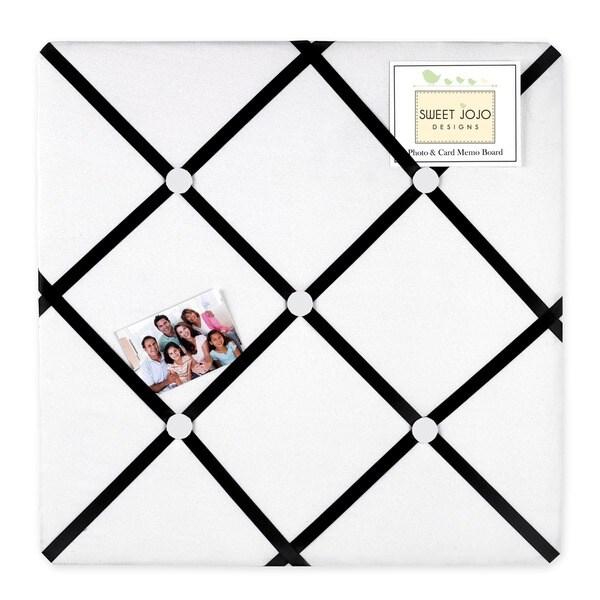 Sweet JoJo Designs Black and White Princess Fabric Bulletin Board