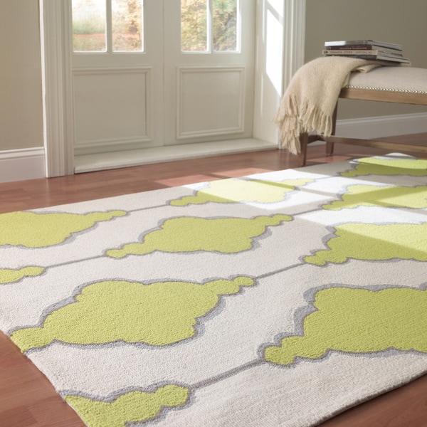 nuLOOM Handmade Swirls Trellis Wool Rug (5' x 8') - 5' x 8'