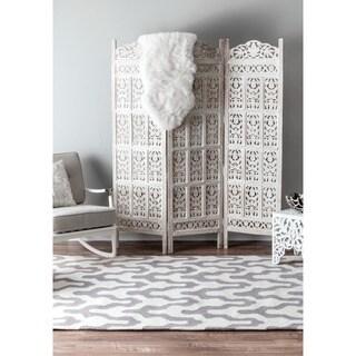 nuLOOM Handmade Modern Trellis Wool Rug (8'6 x 11'6)