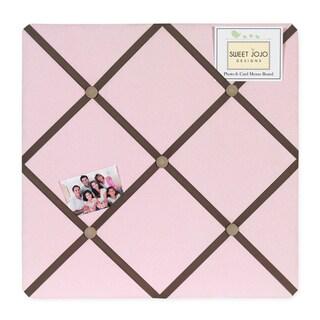 Sweet JoJo Designs Soho Pink and Brown Fabric Bulletin Board