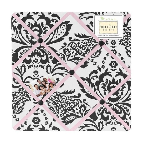 Sweet JoJo Designs Pink and Black Sophia Bulletin Board