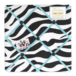 Sweet JoJo Designs Turquoise Funky Zebra Bulletin Board