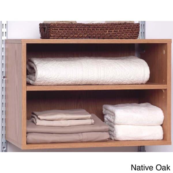Talon Native Oak Open Shelf Organizer