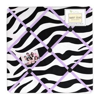 Sweet JoJo Designs Purple Funky Zebra Bulletin Board