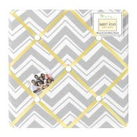Sweet JoJo Designs Yellow and Grey Zig Zag Bulletin Board