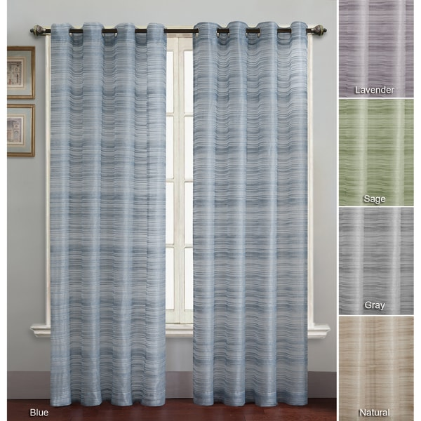 Vcny Bryce Grommet Style Curtain Panel