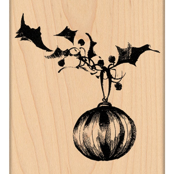 "Penny Black Mounted Rubber Stamp 3.25""X3.5""-Brush Ornament"