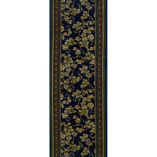 Rivington Spearman Aubergine Blue Runner Rug