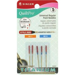 QuiltPro Universal Regular Point Needles-Sizes 80/11 (2) & 90/14 (3) 5/Pkg