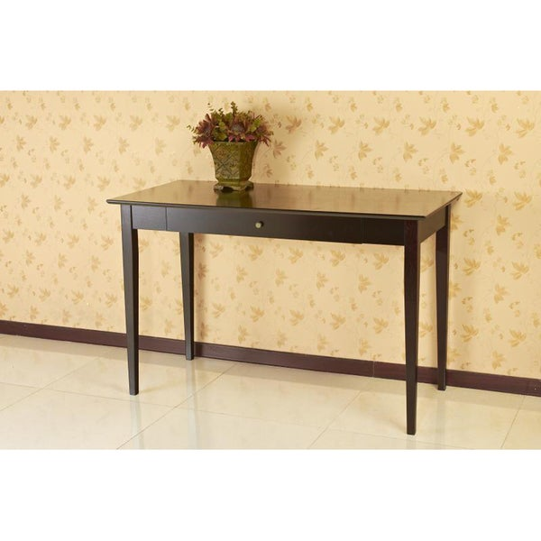 Espresso Finish Writing Desk With Drawer Free Shipping