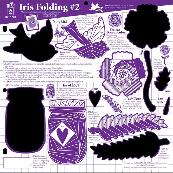 Hot Off The Press Templates 12u0026quot;X12u0026quot;-Iris Folding 2 - Free Shipping On ...