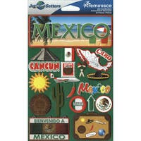 """Jet Setters International Dimensional Stickers 4.5""""X6.75""""-Mexico"""