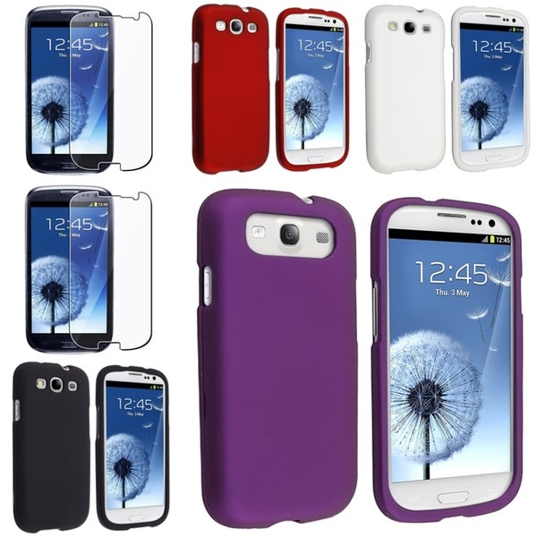 BasAcc Snap-on Cases/ Screen Protector for Samsung Galaxy S III/ S3
