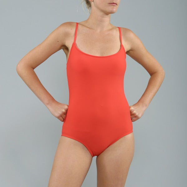 Anne Cole Red Lingerie Maillot 1-piece Swimsuit