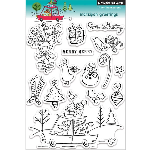 """Penny Black Clear Stamps 5""""X7.5"""" Sheet-Marzipan Greetings"""