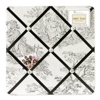 Sweet JoJo Designs Black French Toile Fabric Bulletin Board