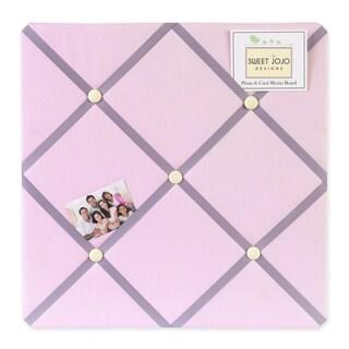 Sweet JoJo Designs Pink and Purple Butterfly Fabric Bulletin Board