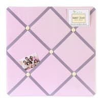 Sweet JoJo Designs Pink and Purple Butterfly Fabric Bulletin Board