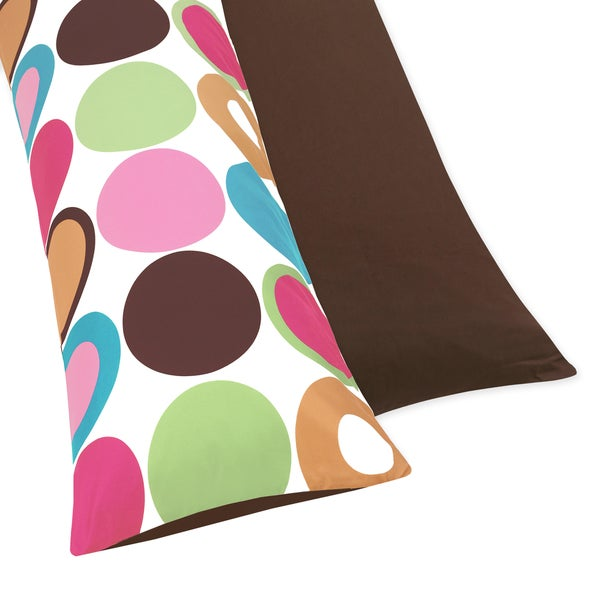 Sweet JoJo Designs Deco Dot Full Length Double Zippered Body Pillow Case Cover