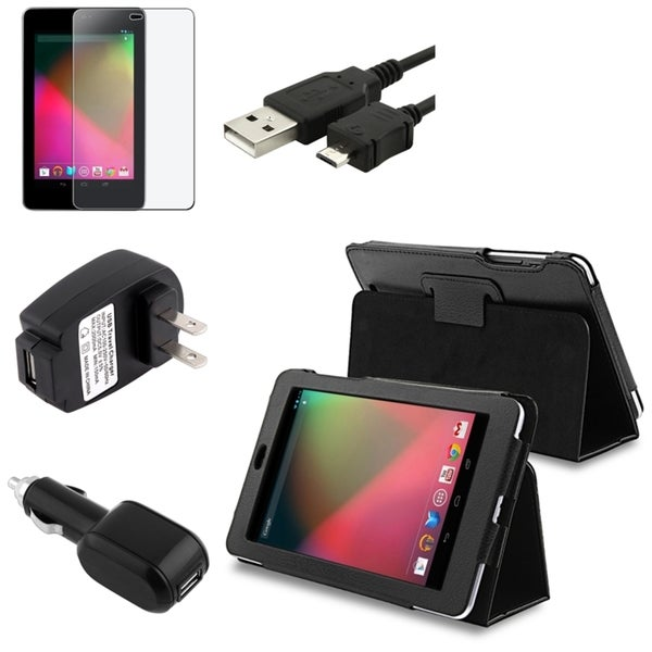 BasAcc Case/ Anti-glare Protector/ Cable/ Chargers for Google Nexus 7