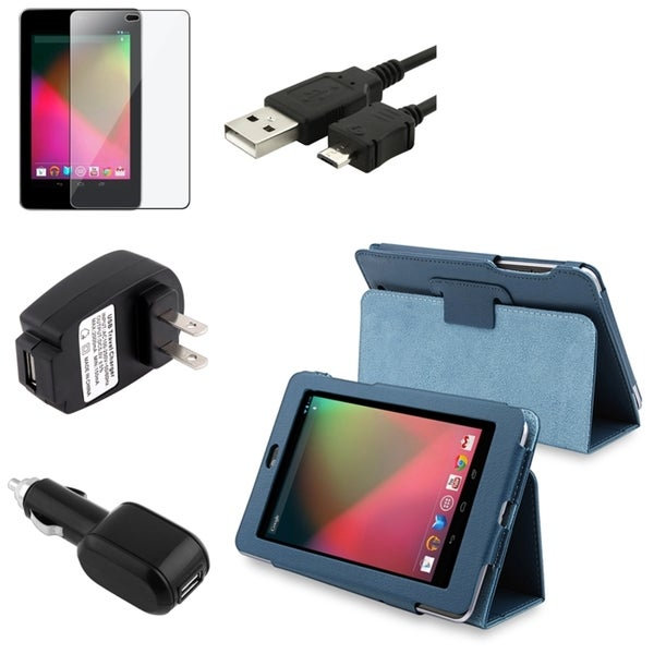 BasAcc Leather Case/ Protector/ Cable/ Chargers for Google Nexus 7