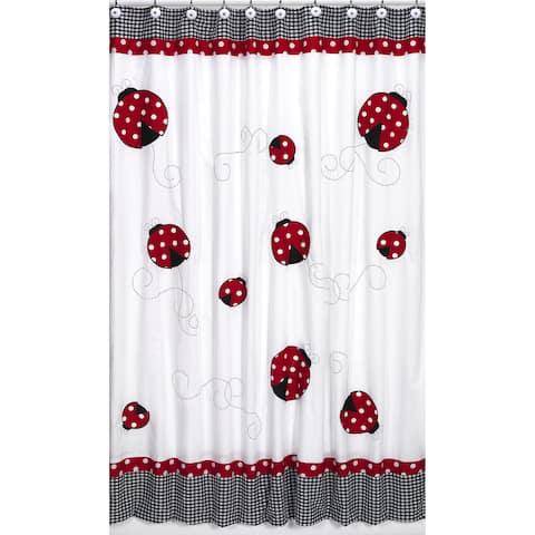 Sweet Jojo Designs Polka Dot Ladybug Kids Shower Curtain