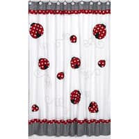 Sweet Jojo Designs Polka Dot Ladybug Kids Shower Curtain