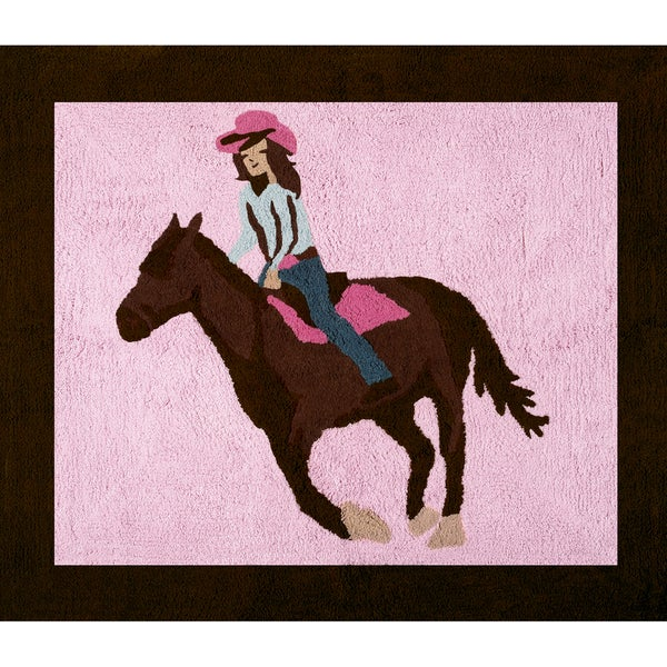 Shop Sweet Jojo Designs Western Horse Cowgirl Cotton Floor