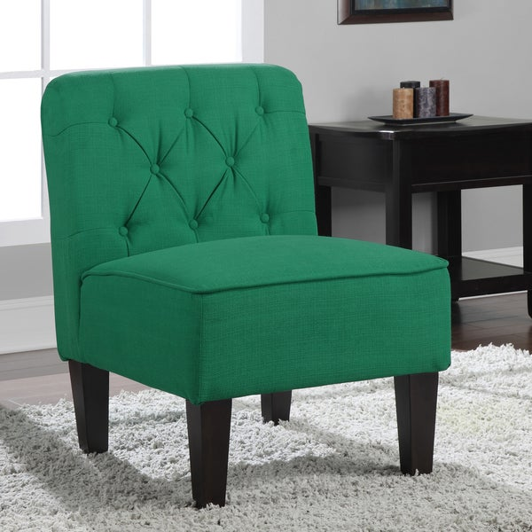 Tufted Emerald Green Slipper Chair  Free Shipping Today