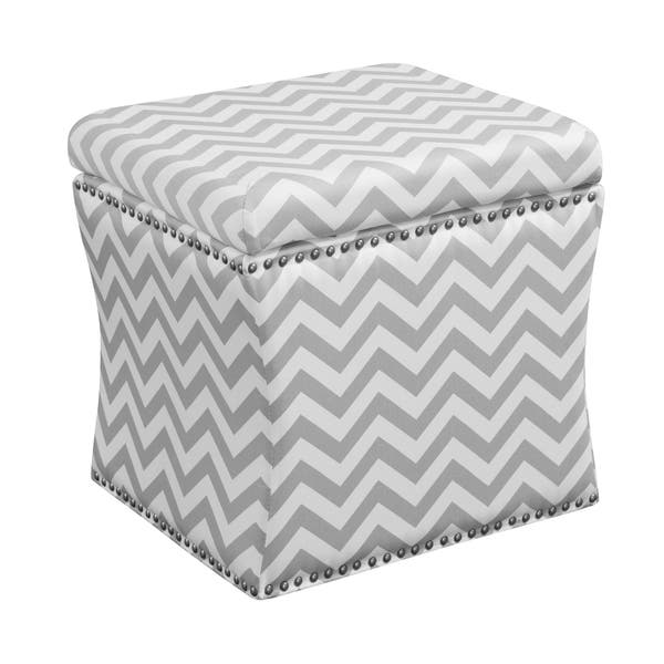 Groovy Shop Curved Grey Chevron Storage Ottoman Free Shipping Caraccident5 Cool Chair Designs And Ideas Caraccident5Info