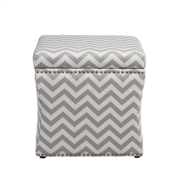 Magnificent Shop Curved Grey Chevron Storage Ottoman Free Shipping Caraccident5 Cool Chair Designs And Ideas Caraccident5Info