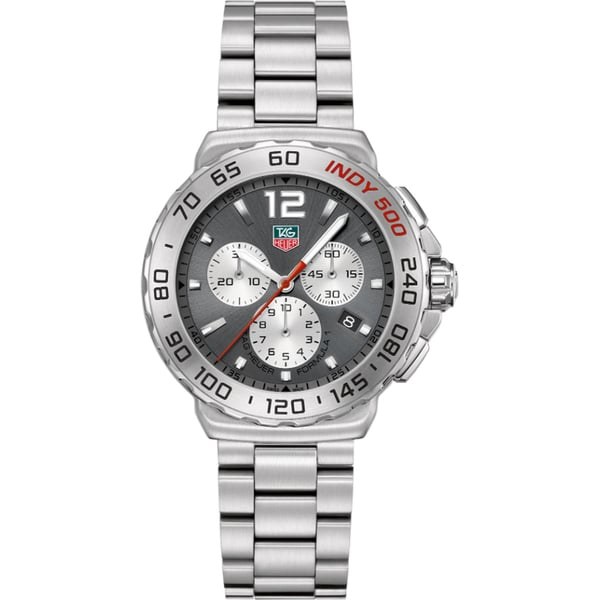 Tag Heuer Men's CAU1113.BA0858 Quartz Chronograph Grey Dial Stainless Steel Watch