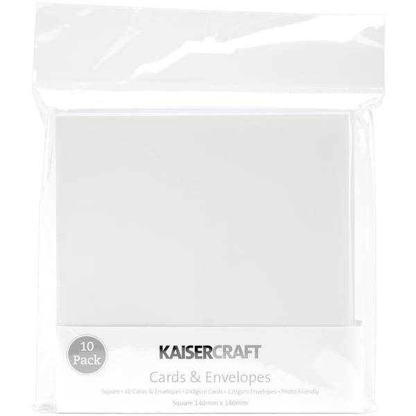 Square Card Pack-White
