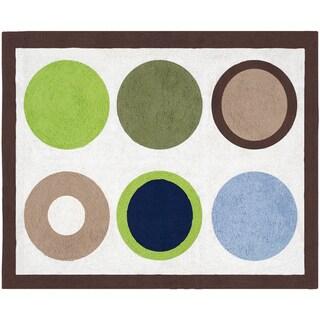 Sweet JoJo Designs Designer Dot Modern Cotton Floor Rug